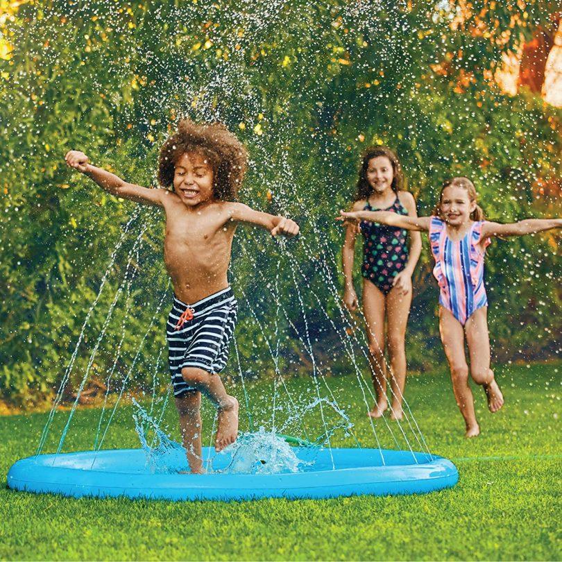 Inflatable Splash Sprinkler Pad for Kids Toddlers Dogs