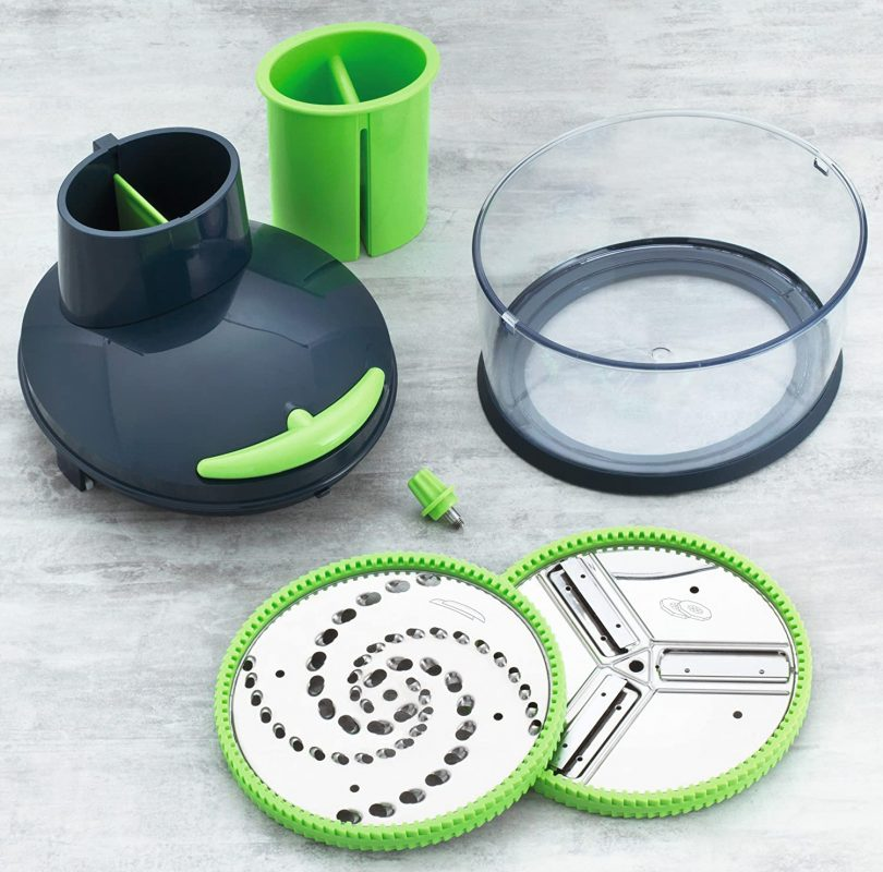 Easy Cut Multi-Purpose Hand-powered Food Processor
