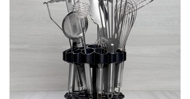 Kuhn Rikon Vision Clear Slotted Easy-to-Clean Knife Stand/Block