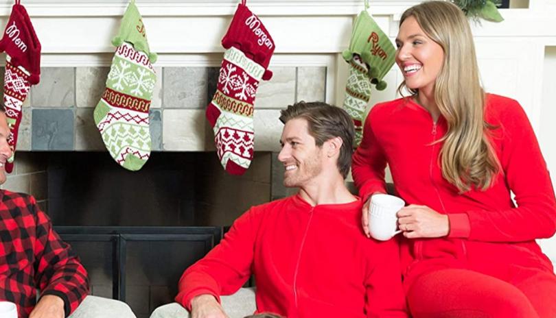 Sleepyheads Women's Fleece Non-Footed Solid Color Onesie Pajamas Jumpsuit