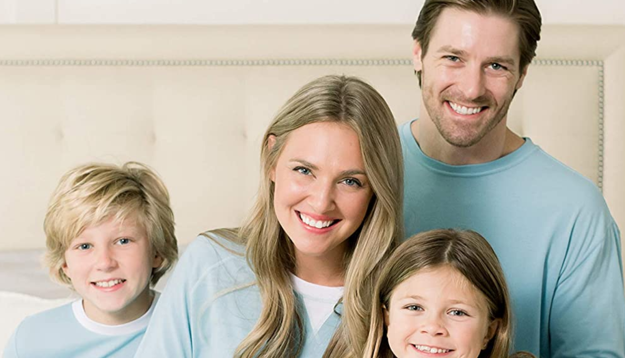 Our Family Pjs Matching Family Christmas Pajama Sets, Blue Penguin