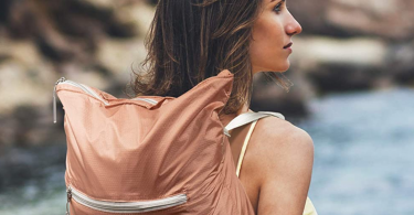 Packable Backpack for Women in Rose Gold