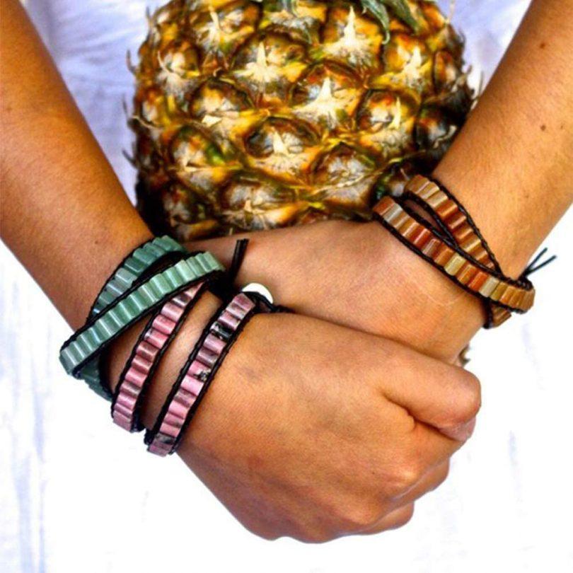 Lulu Dharma Sodalite Beaded Cylinder 2 Wrap Bracelet