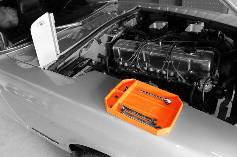 Grypmat | Non-Slip Flexible Orange Tool Tray