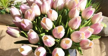 Excursion Home 5 Pcs Artificial Tulips Flowers