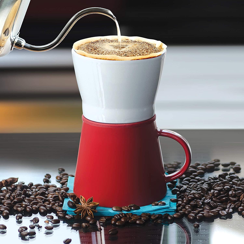 The Asobu Café Pour Over 16 Ounce Ceramic Coffee Mug