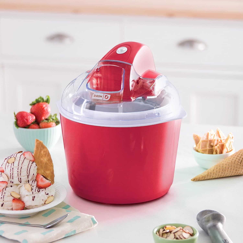 Dash DIC001RD Deluxe Ice Cream Frozen Yogurt & Sorbet Maker