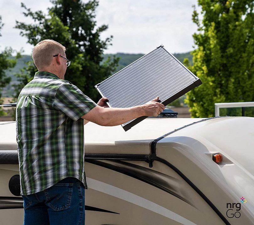 nrgGo 50 Watt Solar Panel Monocrystalline