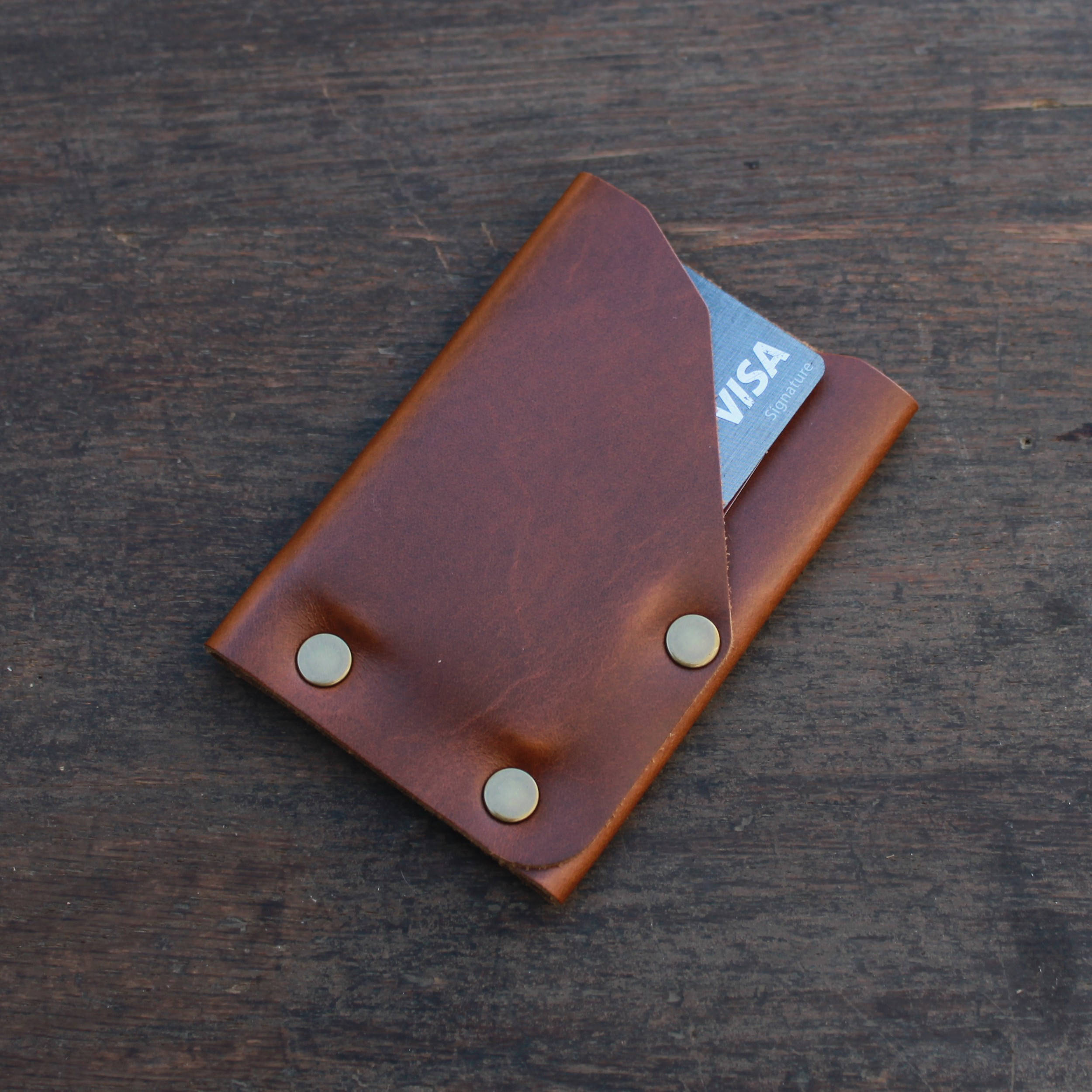 Leather Front Pocket Minimalist Wallet