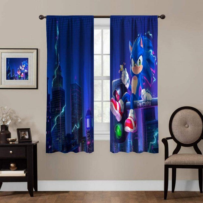 NineThing Window Blackout Curtains,Sonic The Hedgehog