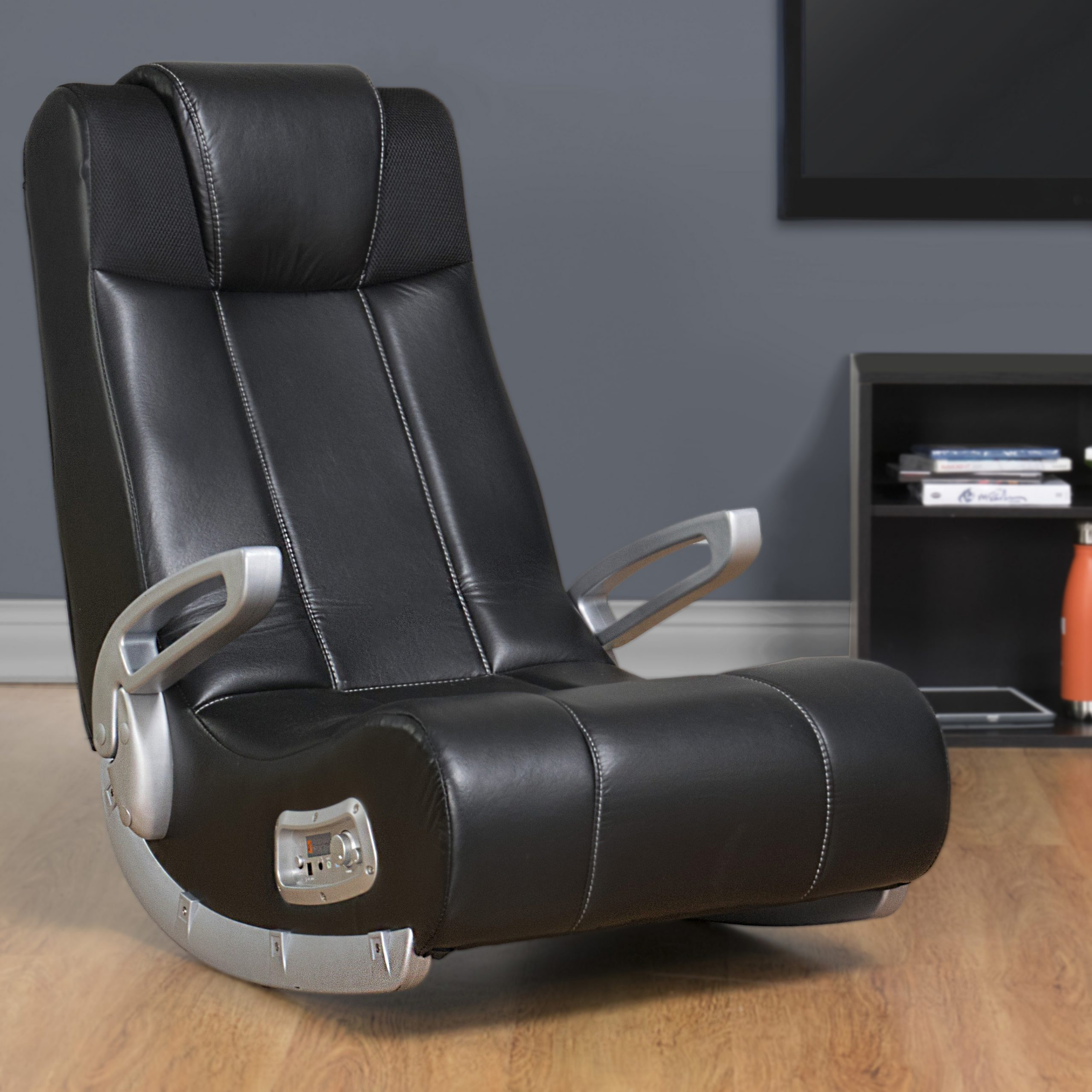 X Rocker SE 2.1 Black Leather Video Gaming Chair