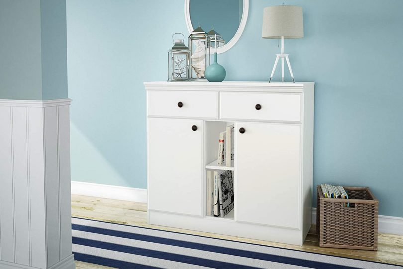 South Shore 2-Door Storage Sideboard with Drawers