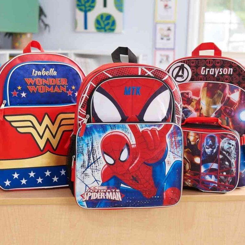 Personalized Superhero Backpacks