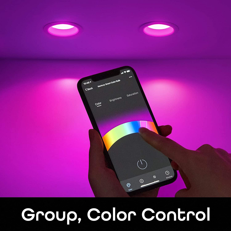 "Geeni Prisma Plus 6"" Smart Wi-Fi LED Dimmable Multicolor Downlight"