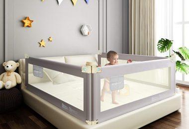 Foldable Crib Rail Guard for Baby