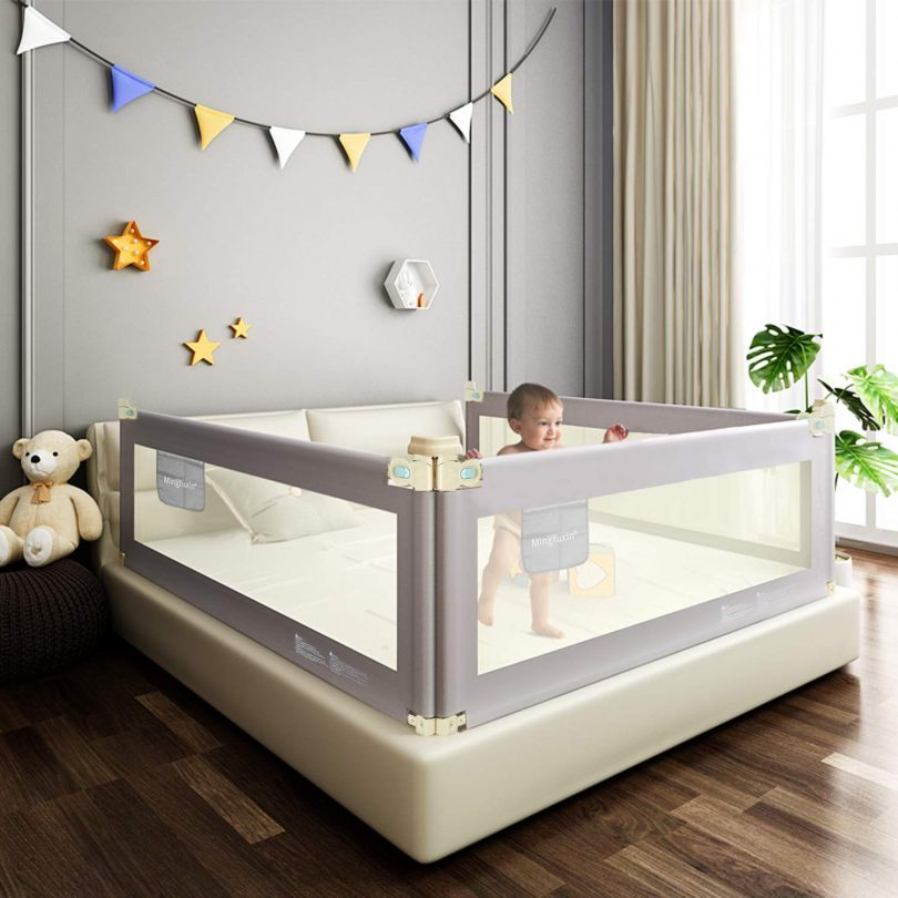Foldable Crib Rail Guard for Baby