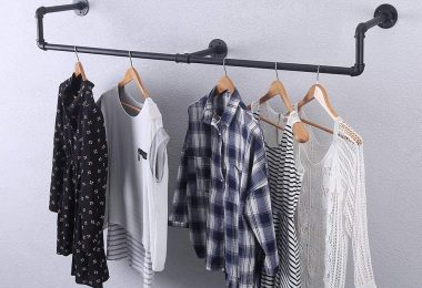 Industrial Pipe Clothing Rack Wall