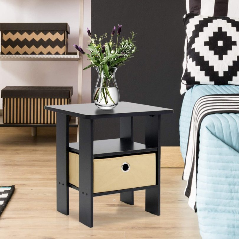 Furinno End Table Bedroom Night Stand