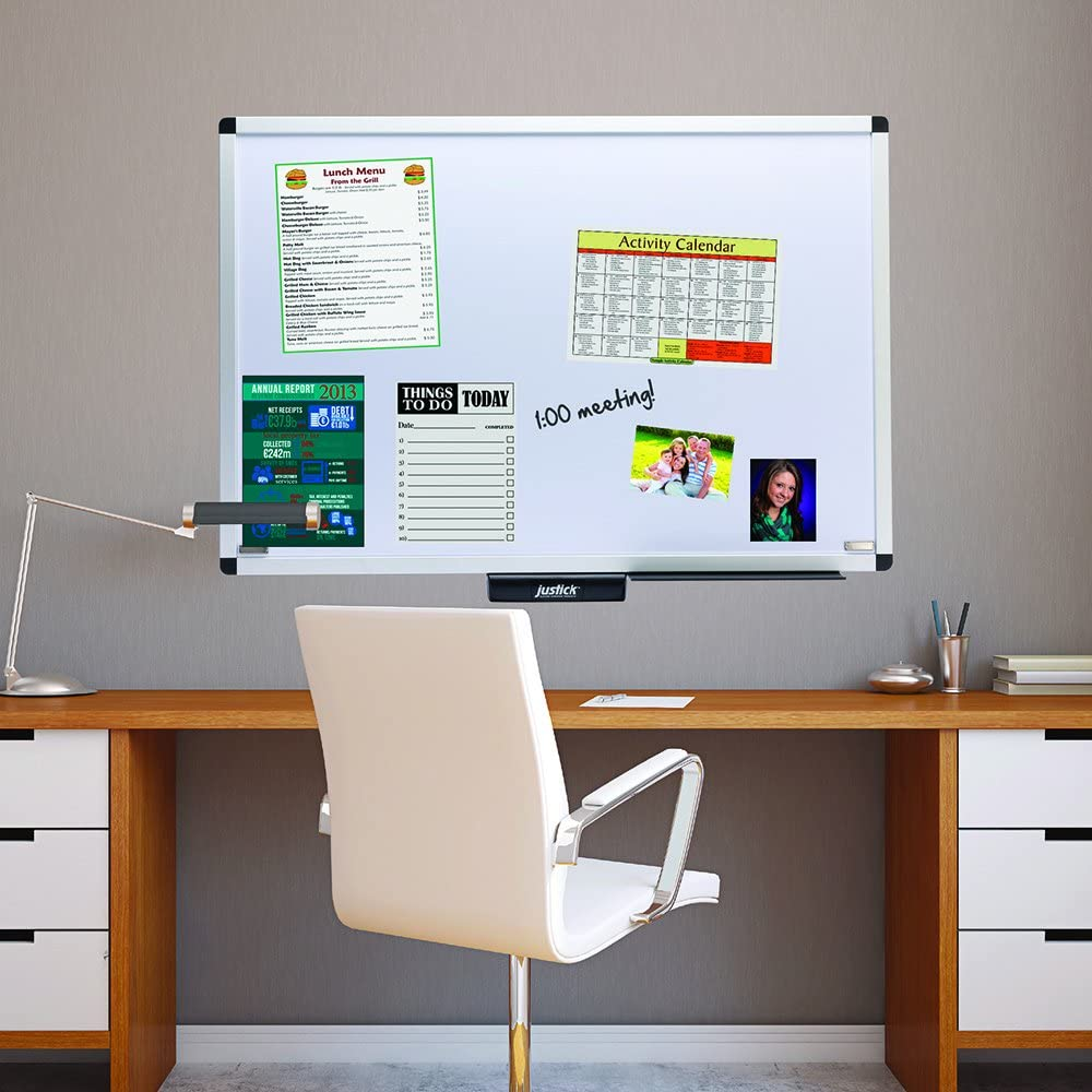 Justick by Smead, Premium Aluminum Frame Electro Dry-Erase Board