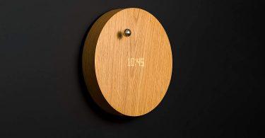 FLYTE Story Oak Digital Wall Clock