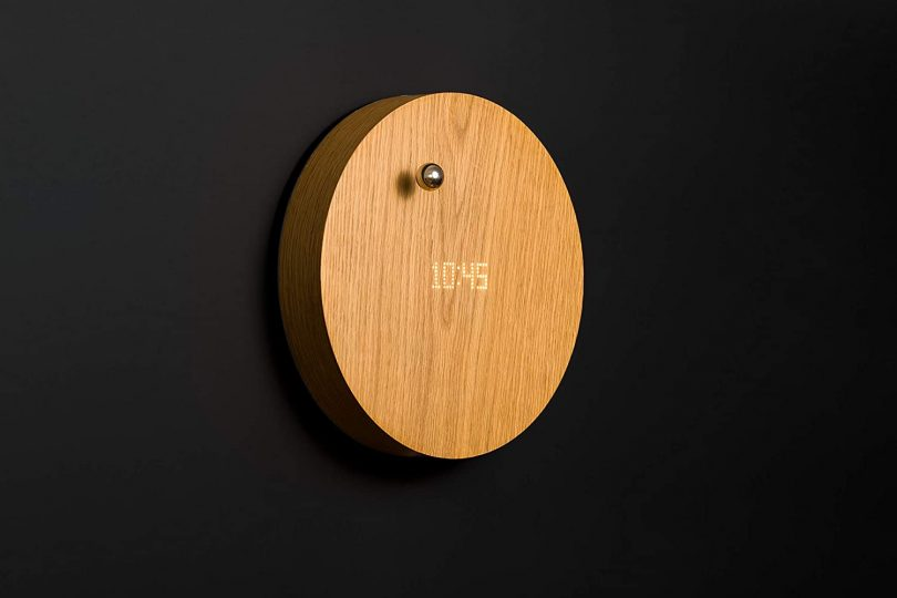 FLYTE Story Oak Digital Wall Clock