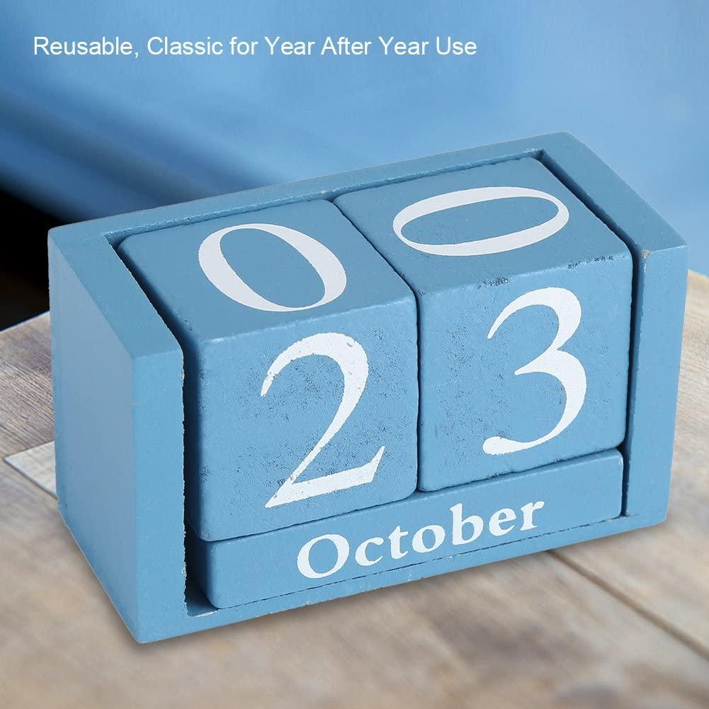 YosooXX European Perpetual Wooden Calendar