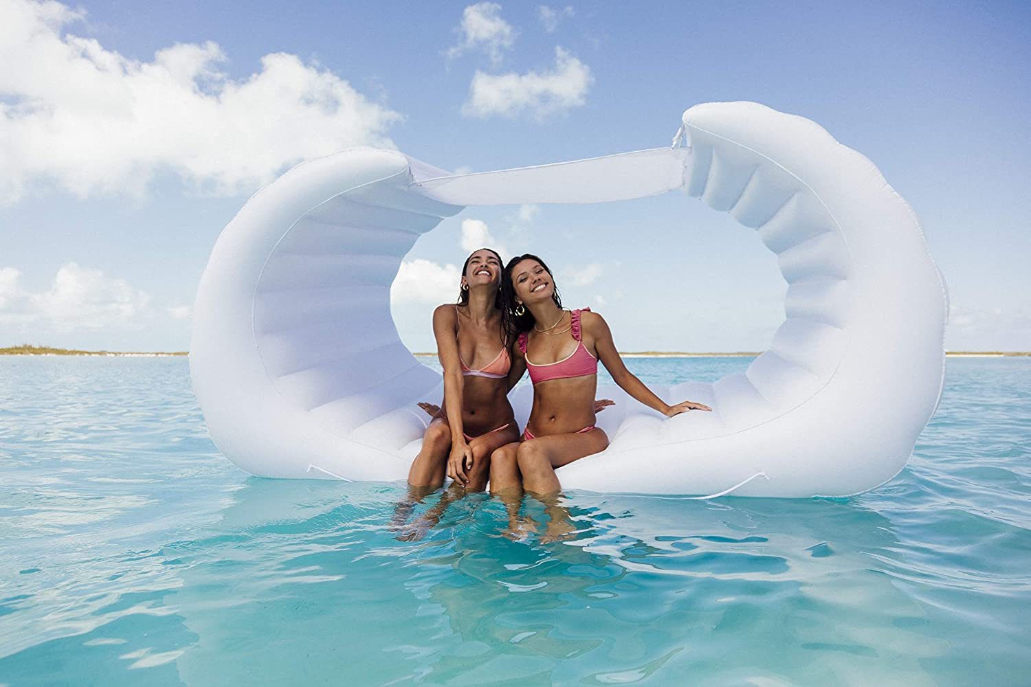 FUNBOY Giant Luxury Inflatable Float Raft for Pool Parties