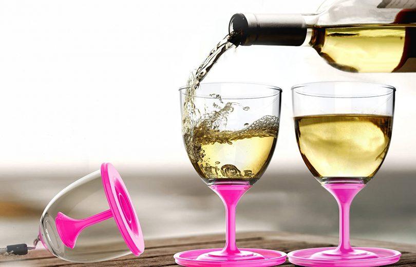 Asobu VT13-9228 StackNGo Unbreakable Wine Glasses
