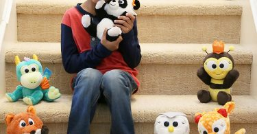 Animoodles Magnetic Jada Panda Stuffed Animal Plush