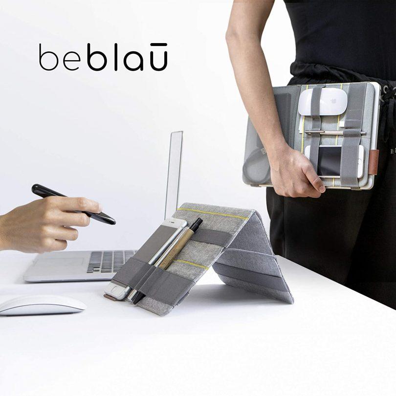 BEBLAU FOLD, Portable Organizer Attachable to Your Devices
