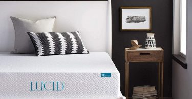LUCID 10 Inch 2019 Gel Memory Foam Mattress