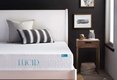 LUCID 10 Inch 2019 Gel Memory Foam Mattress