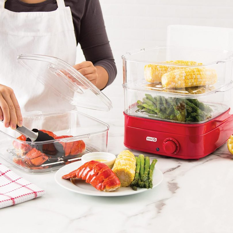 Dash DIS001RD Instant Food Steamer