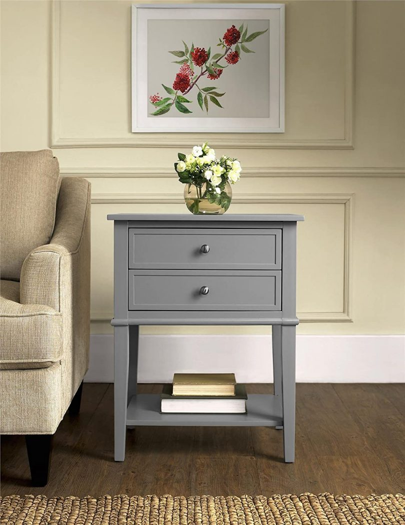 Ameriwood Home Franklin Accent Table with 2 Drawers