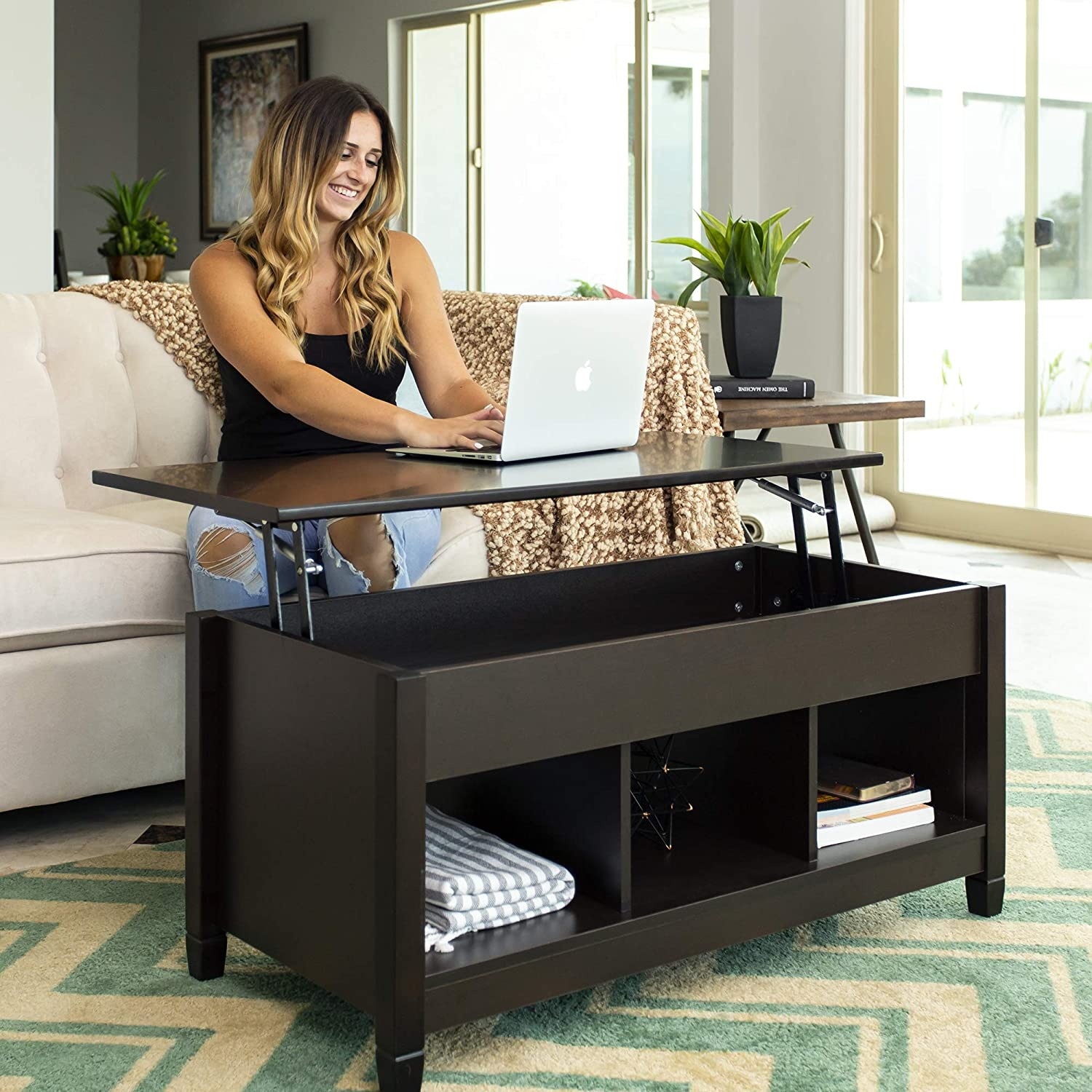 Wooden Modern Multifunctional Coffee Dining Table for Living Room