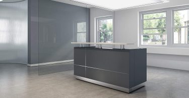 Modern Space Grey Reception Desk