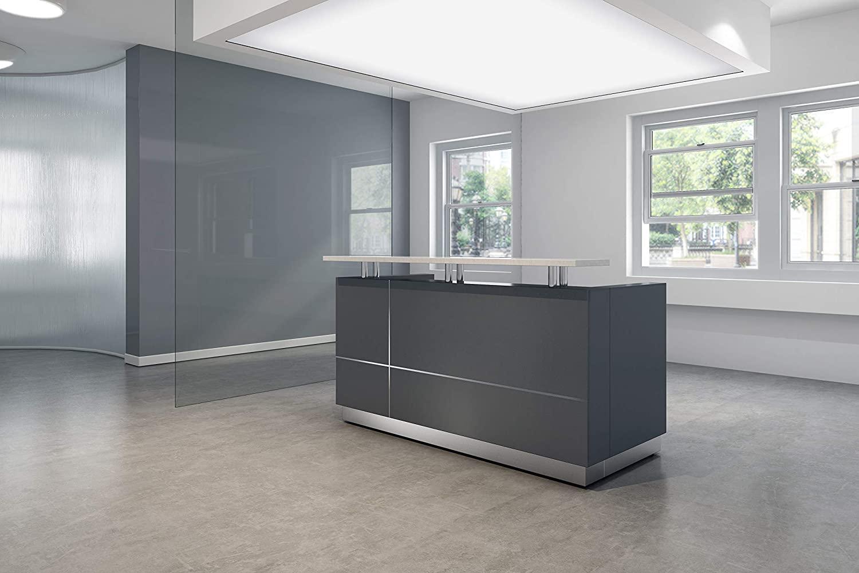 Modern Space Grey Reception Desk