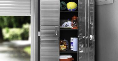 Seville Classics UltraHD Stainless Steel 2-Door Lockable Storage Cabinet