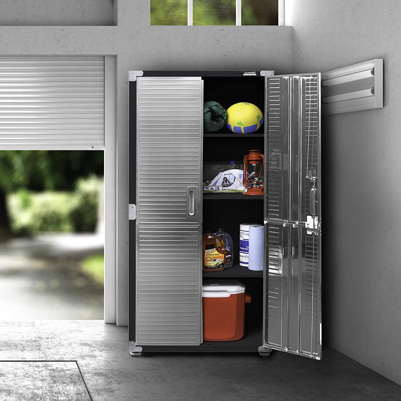 Seville Classics UltraHD Stainless Steel 2-Door Lockable Storage Cabinet