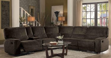 Homelegance Shreveport 6-Piece Sectional with Three Reclining Chairs