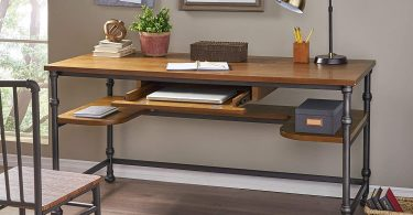 Poly and Bark Malain Wooden Modern Mid-Century Dining Table