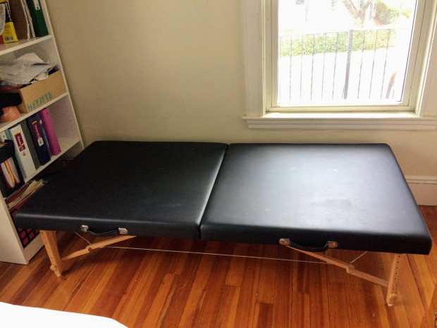 SierraComfort Portable Stretching Table Sits