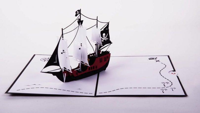 Lovepop Pirate Ship 3D Pop-Up Greeting Card