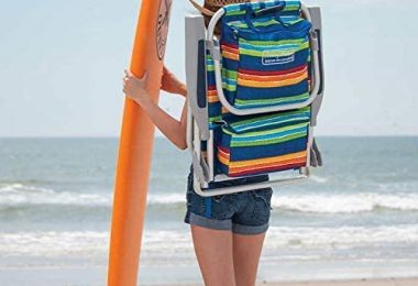 Tommy Bahama 2 Backpack Beach Chairs Stripes