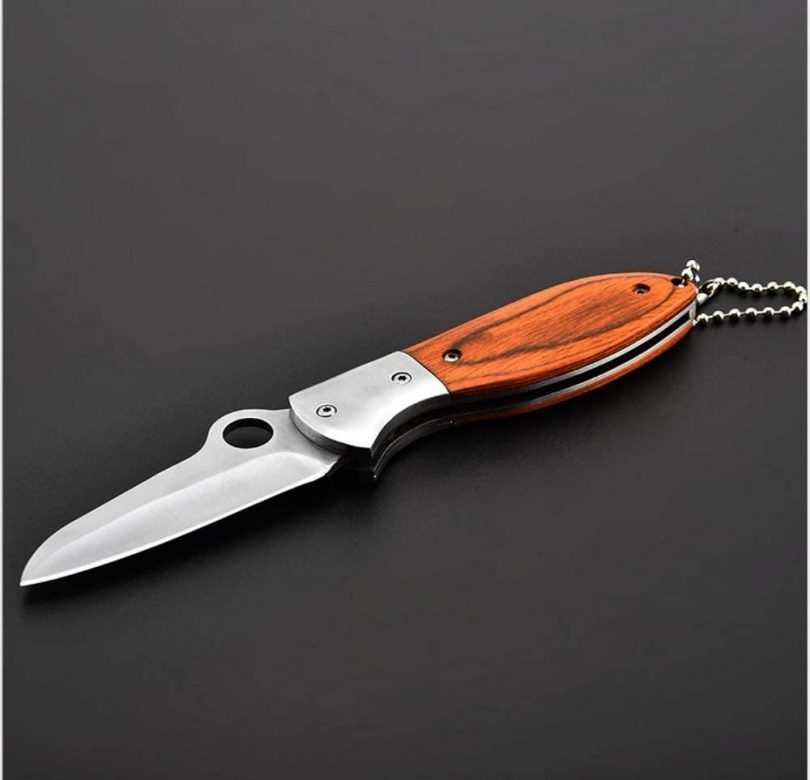 Pocket Knife,Folding Knife,With Red Wooden Handle