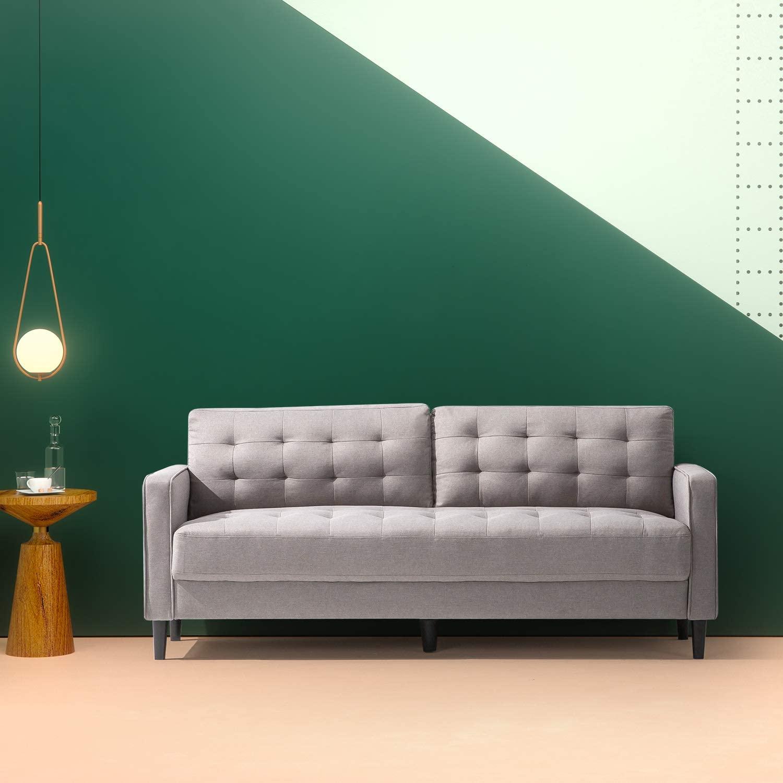 Zinus Benton Mid-Century Upholstered 76 Inch Sofa