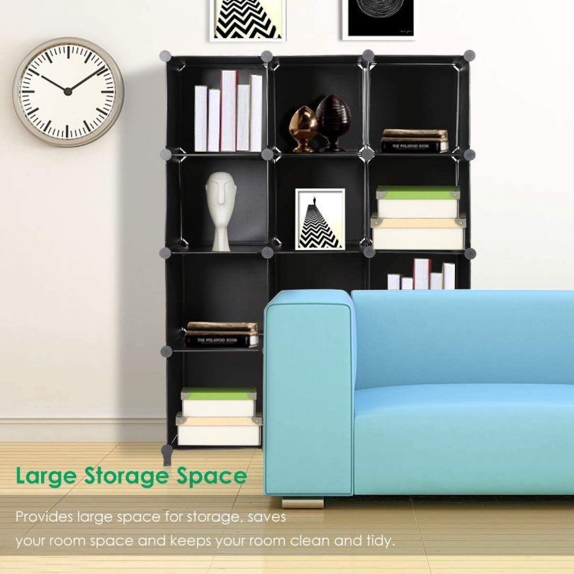 TomCare Cube Storage 12-Cube Bookshelf Closet Organizer Storage Shelves