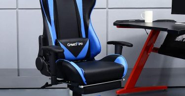 GAMEMAD High Back PU Leather Swivel Gaming Chair with Adjustable Lumbar Support