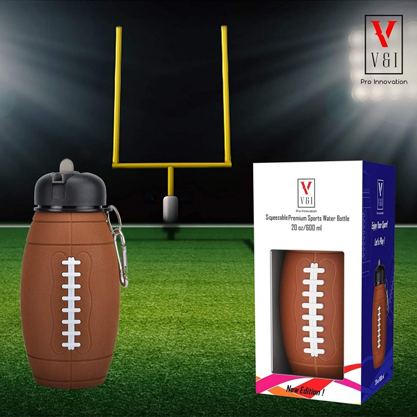 Kids Sports Football Water Bottle Ball Shaped