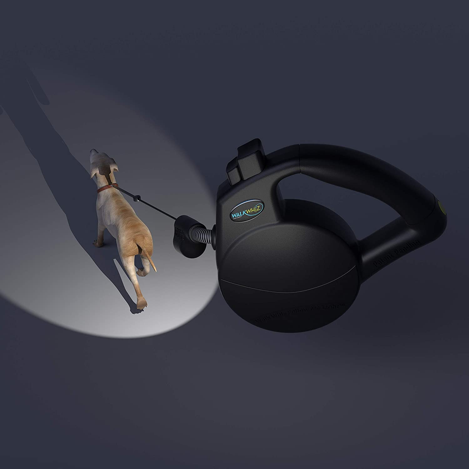 Retractable Leash for Dogs, with 360 Degree Automatic Light